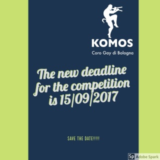 Komos Composition Competition, the new deadline is 15 Sept. 2017